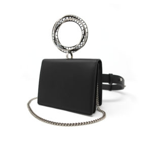 Moebius Belt Bag Silver Black 00 - Maissa by Giulia Ber Tacchini Italian Custom Jewels and Luxury