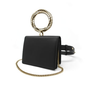 Moebius Belt Bag Gold Black 00 - Maissa by Giulia Ber Tacchini Italian Custom Jewels and Luxury