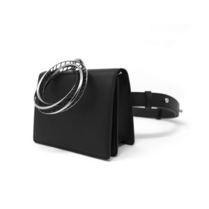 Moebius No Chain Belt Bag Black 00 - Maissa by Giulia Ber Tacchini Italian Custom Jewels and Luxury