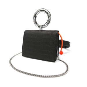 Moebius Croco Belt Bag Black 00 - Maissa by Giulia Ber Tacchini Italian Custom Jewels and Luxury