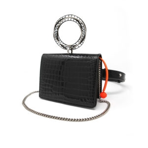 Moebius CrocoLux Belt Bag Black 00 - Maissa by Giulia Ber Tacchini Italian Custom Jewels and Luxury