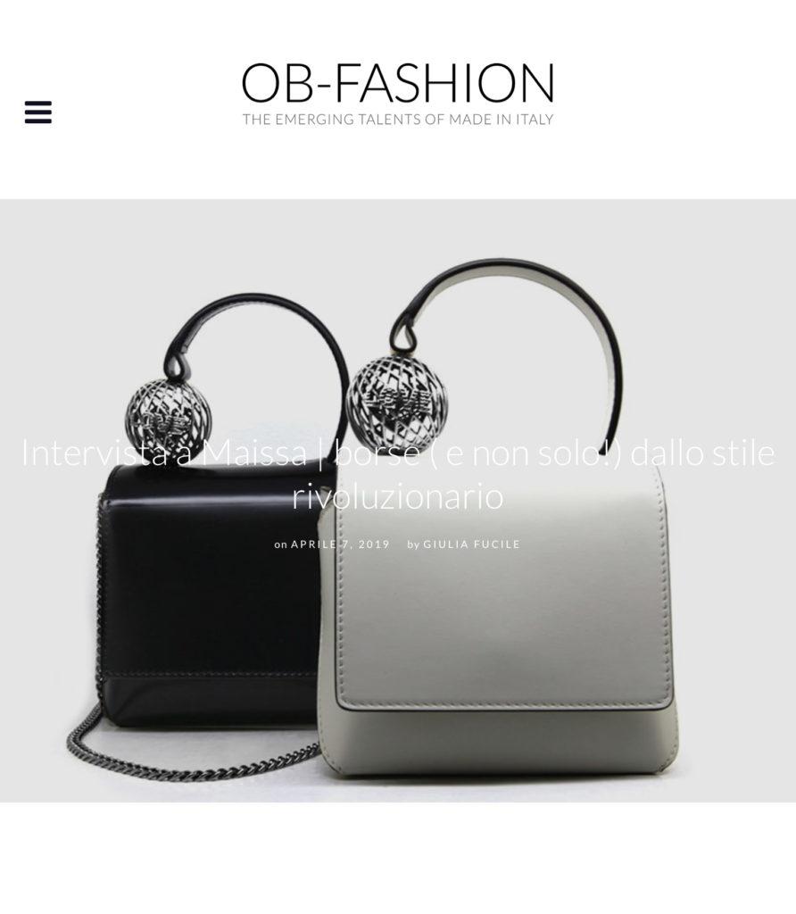 Press OB Fashion April 2019 00 - Maissa by Giulia Ber Tacchini Italian Custom Jewels and Luxury
