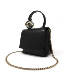 Dede Mini Ball HandBag Black 02 - Maissa by Giulia Ber Tacchini Italian Custom Jewels and Luxury