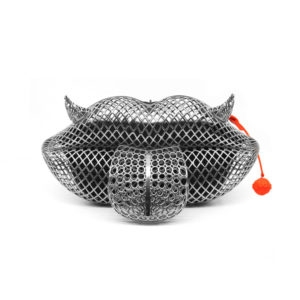 Mr. Lips Silver Clutch Bag 00 - Maissa by Giulia Ber Tacchini Italian Custom Jewels and Luxury