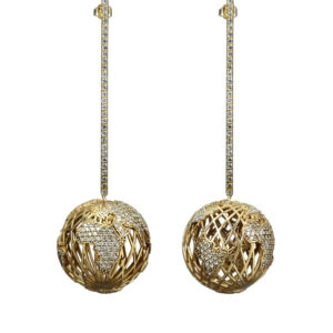Bling Ball Earrings 00 - Maissa by Giulia Ber Tacchini Italian Custom Jewels and Luxury