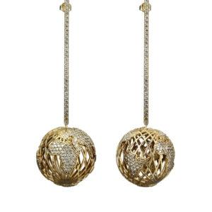 Bling Ball Earrings 00 - Maissa by Giulia Ber Tacchini Italian Custom Jewels and Luxury