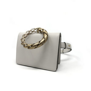 Crown Belt Bag White 00 - Maissa by Giulia Ber Tacchini Italian Custom Jewels and Luxury from Milan